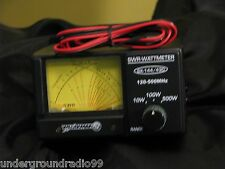 222 mHz Ham Radio Dual Cross-needle rf METER SWR  Power 2-meter VHF UHF 500 mhz