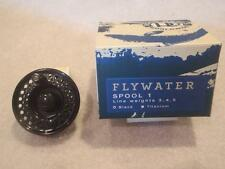 Ross Flywater Fly Reel Spool # 1 Black Finish Fishing Weights 3 4 5 w box