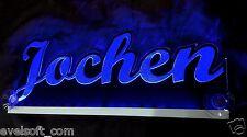 """LED faunz Truckerschild """" Jochen """" oder Ihr Wunschname als LED Name©"""