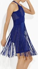 NWT HERVE LEGER MAHALA  Plaited Chevron Fringe Dress