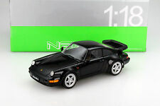 Porsche 911 (tipo 964) Turbo negro 1:18 Welly