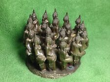 Be2549 Genuine (19) Thai Buddha Phra Yod Thong Lp Koon Wat Banrai Amulet Log Set