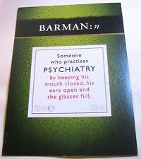 Advertising Tio Pepe Alcohol Psychiatry Barman - posted 2001