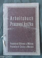 Original Ausweis Arbeitsbuch Böhmen und Mähren 1941
