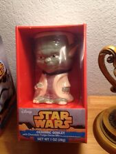 "STAR WARS Yoda CERAMIC GOBLET With Choco Fudge Mix 6"" HEIGHT DISNEY NIB"