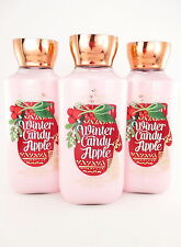 Bath Body Works Winter Candy Apple Body Lotion x 3 Shea & Vitamin E & Aloe 8oz