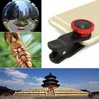 3in1 Universal Clip On Camera Lens 180°Fisheye+Wide Angle+Macro For Cell Phones