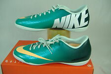 "New Womens 11.5 NIKE ""Mercurial Victory 4 IC"" Atomic Teal Running Shoes $70"
