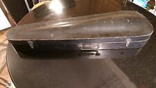 Early Federal Period Wood Violin Case with Violin and Bow