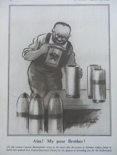 1917 BRUCE BAIRNSFATHER CARTOON - ALAS! MY POOR BROTHER; THE TOURISTS WWI WW1