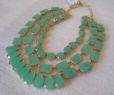 KATE SPADE RIVIERA GARDEN GIVERNY BLUE 3-STRAND STATEMENT NECKLACE WBRU7754 NWT