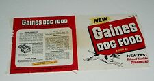 1950's GAINES DOG FOOD can label vintage
