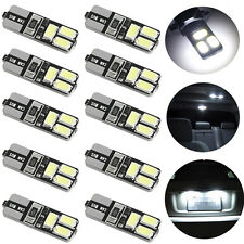 10 x T10 5630 6SMD W5W Car LED CANBUS No Error Width Light License Plate Lamp