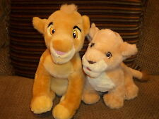 "Adorable 14"" Disney Store Lion King SIMBA & 11"" NALA Plush CUBS"