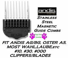 ANDIS STAINLESS STEEL MAGNETIC ATTACHMENT GUIDE BLADE COMB*FitMost Oster Clipper