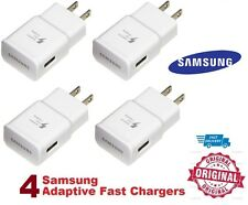 4 Authentic Original OEM Samsung Galaxy Note Adaptive Fast Rapid Wall Charger