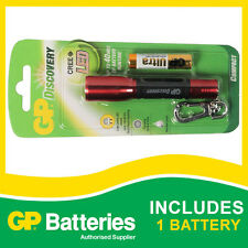 GP Discovery LED Torch LCE202 + 1 Ultra Alkaline AAA Battery