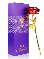 VALENTINE GIFT -  24K Gold Plated Red Rose, Handcrafted and Lasts Forever
