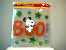 Snoopy Halloween Peanuts Window Cling Jelz BOO Trick or Treat Large