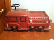Vintage Toy Ride On Fire Engine Truck