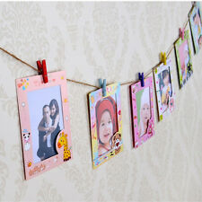 9 pcs Wall Hanging Cute Animal Paper Photo Frame for Pictures 6 Inch