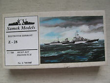 Samek Models S700/008 Destroyer Germany Z- 28 1:700 Resin Kombiversand möglich