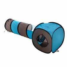 2 in 1  Cat Play Tunnel And Box Tent -Cat Kitten Toy With Free Catnip Sachet
