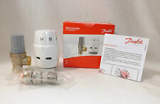 3 X DANFOSS RAS-C2 COMBI ANGLED 15mm THERMOSTATIC RADIATOR VALVE 013G6050