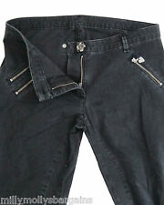 New Womens Black Lipsy Crop Trousers Size 8 RRP £50 DEFECT