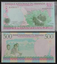 RWANDA Paper Money 500 FRANCS 1998 UNC