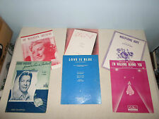 Lot of 6 Piano Song Score Sheet Music Lyric Chlo-E/Whispering Hope/Love is Blue
