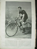 THE SPORTFOLIO PORTRAITS 1896 VINTAGE CYCLING PHOTOGRAPH PRINT C.G. THISELTON