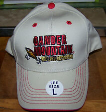 """JUNIOR / YOUTH CAP - """"Gander Mtn."""" - Tan / Red - """"Tee Size L"""" - NWT!"""