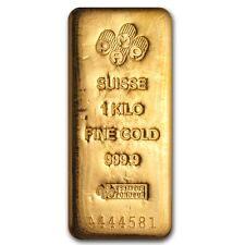 1 Kilo Pamp Suisse Gold Bar .9999 Fine - SKU #73950