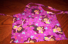 Handmade wine color Dora the Explore girls,med cotton Child apron