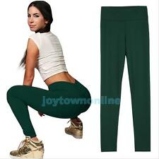 Fashion Women's Tights YOGA Running Sports High Waist Cropped Fitness Pants New