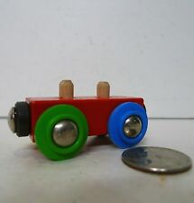 BRIO Load Car Train holds Wooden Cargo Four Different Colored Wheels !!!