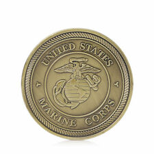 Put On Armor Of God Marine Corps Helmet of Salvation Challenge Gold Plated Coin