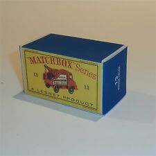 Matchbox Lesney 13 c Thames Trader Wreck Truck empty Repro D style Box