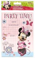 Disney MINNIE MOUSE INVITATIONS 20 Sheets inc Envelopes Girls Invites