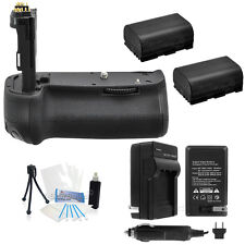 Battery Grip for Canon EOS 60D + 2X LP-E6 Batteries + AC/DC Charger +Starter Kit