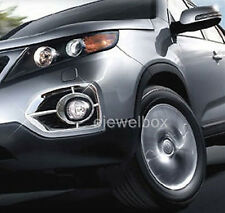 Chrome Fog Light Lamp Cover Molding Trim for 2011-2013 Kia Sorento R w/Tracking