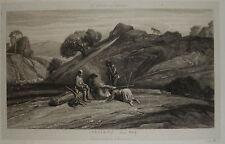 1800-PAESAGGIO: DECAMPS-ACCAMPAMENTO-LOUIS MARVY-M.P.PERIER-ORIGINALE