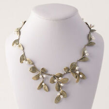 Large Leaf Boxwood Necklace - Michael Michaud - Silver Seasons Jewelry