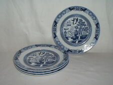 "Lot 4 Bristol House BHX1 Blue Willow 7 3/4"" Salad Plates"