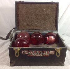 Red Comet Fire Extinguisher Grenades in original Box Fire labeled carrying case