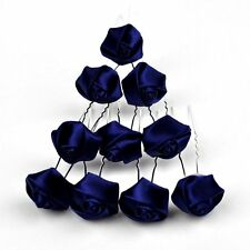 Set 10 Hair pins Roses Flowers Wedding Bride Communion accessories MANY COLOURS
