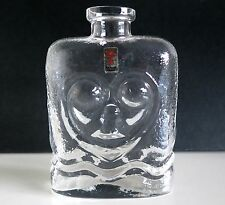 Vintage Scandinavian Glass Bottle LARS HELLSTEN For SKRUF.