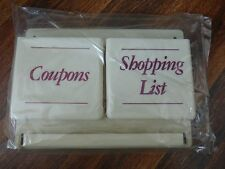 Vintage Shopping & Coupon Center New in Box Plastic Hang on Wall Pen Key Hook