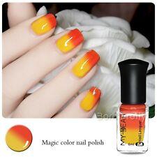 6ml Peel Off Color Changing Nail Polish Thermal Nail Polish Orange to Yellow